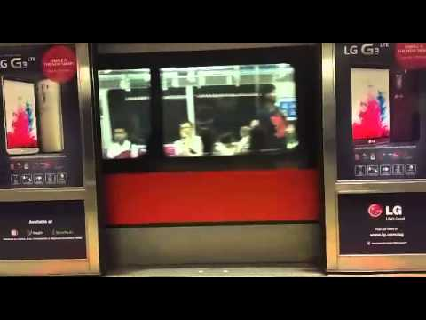 Faulty door at Dhoby Ghaut station