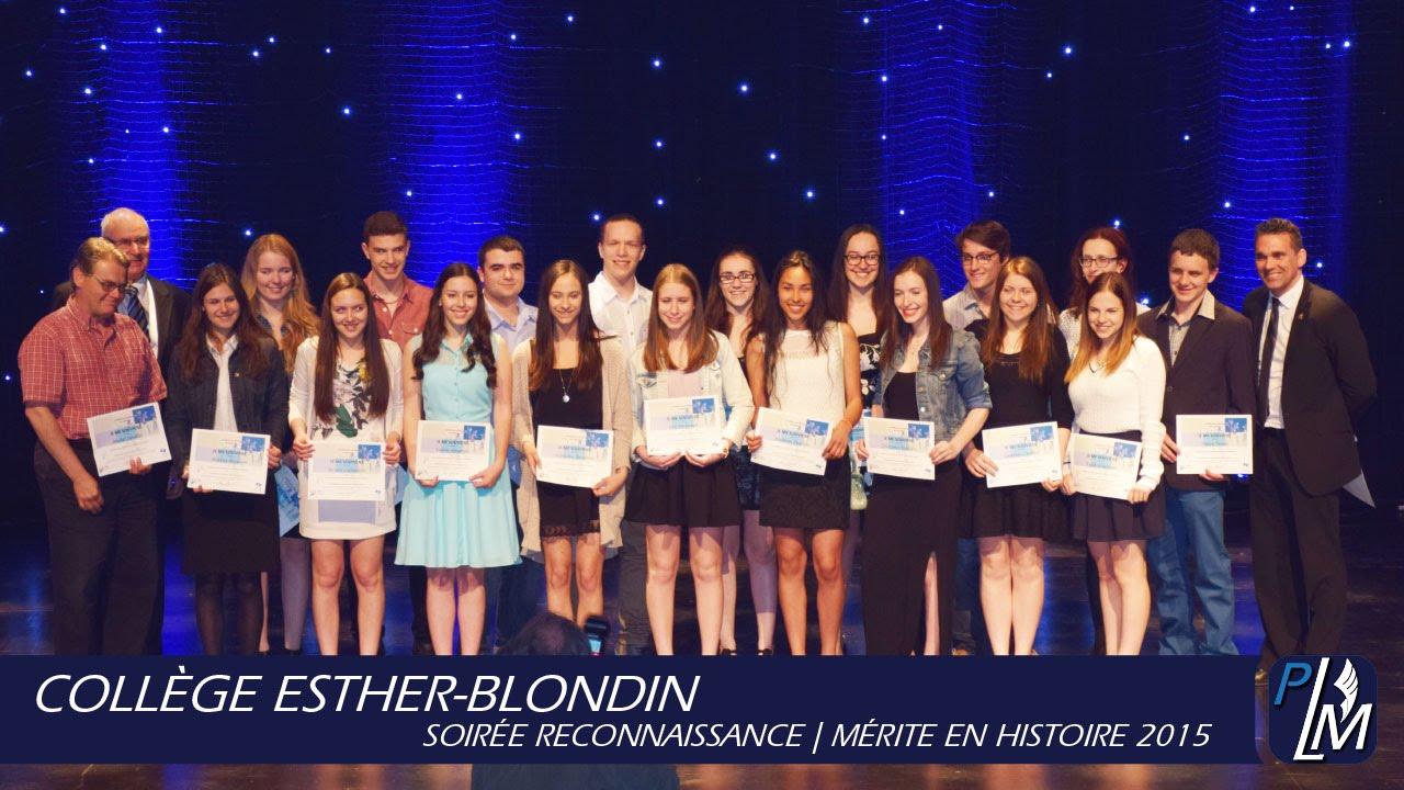 coll ge esther blondin m rite en histoire 2015 youtube