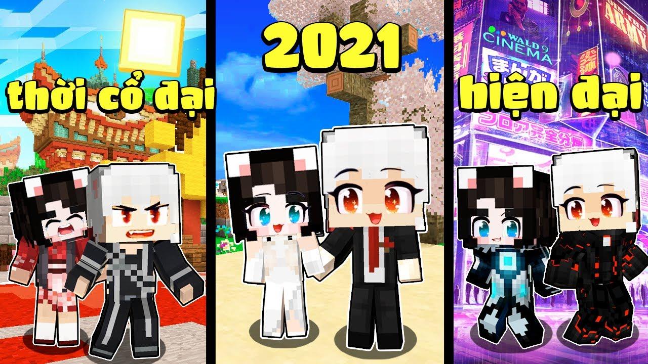 Nếu Kairon Và Simmy Có Cuộc Sống Bất Tử Từ Thời Cổ Đại Đến Thời Tương Lai Trong Minecraft