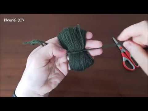 Pompon maken met de hand ♥ DIY