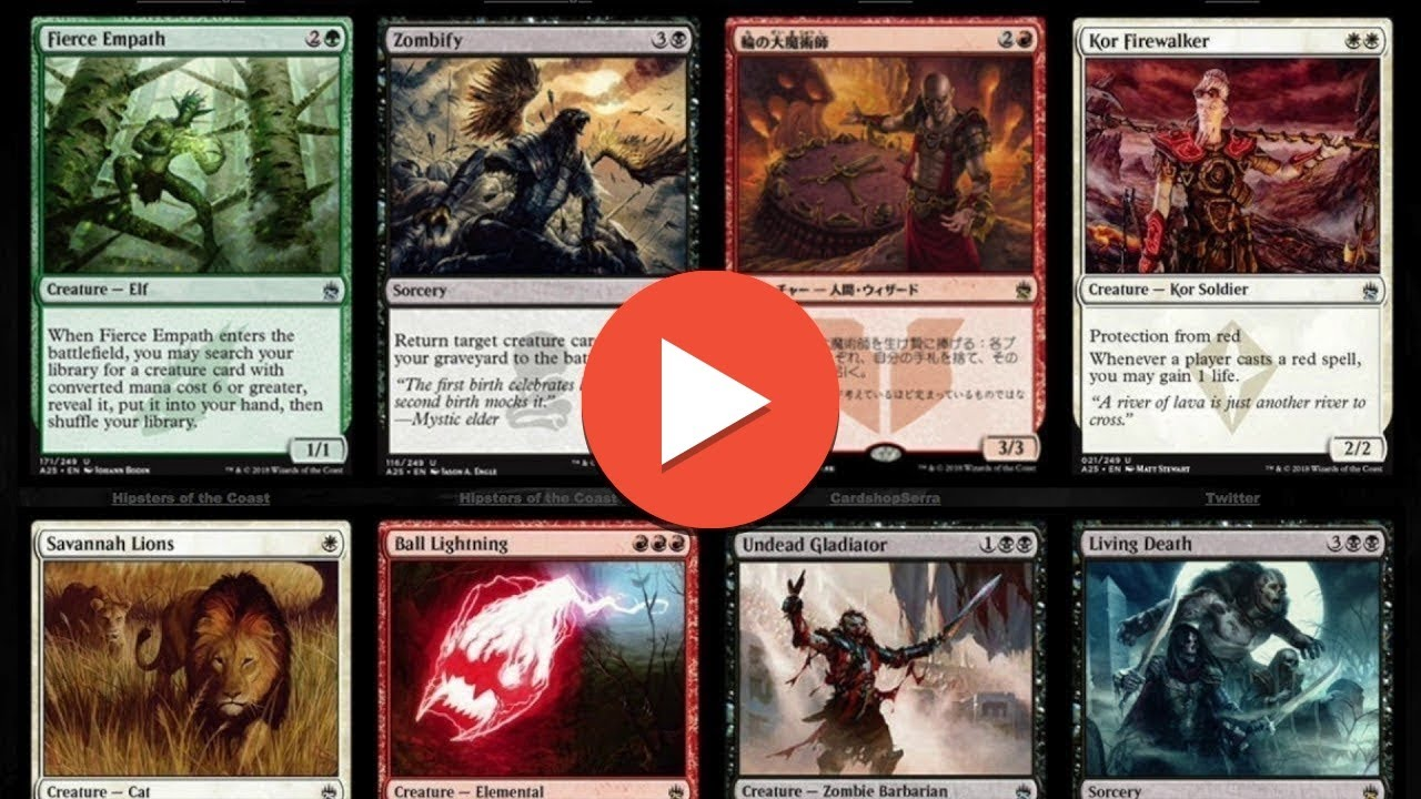 20 masters 25 spoilers magic the gathering cards youtube