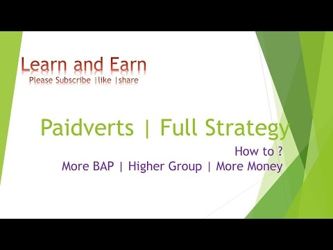 Paidverts strategy game plan | How to increase BAP Tricks to earn 60 k per month