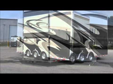 inTech Trailers - Stacker Trailer lift in action