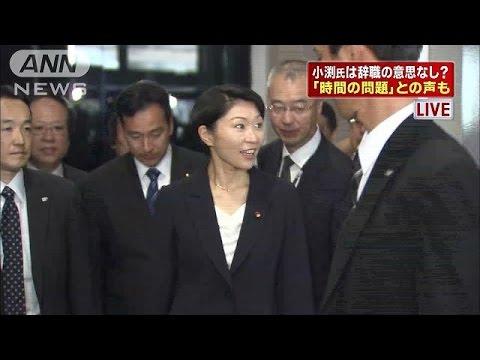 小渕前大臣「絶対に辞めない」 与党から厳しい声も(14/10/30)