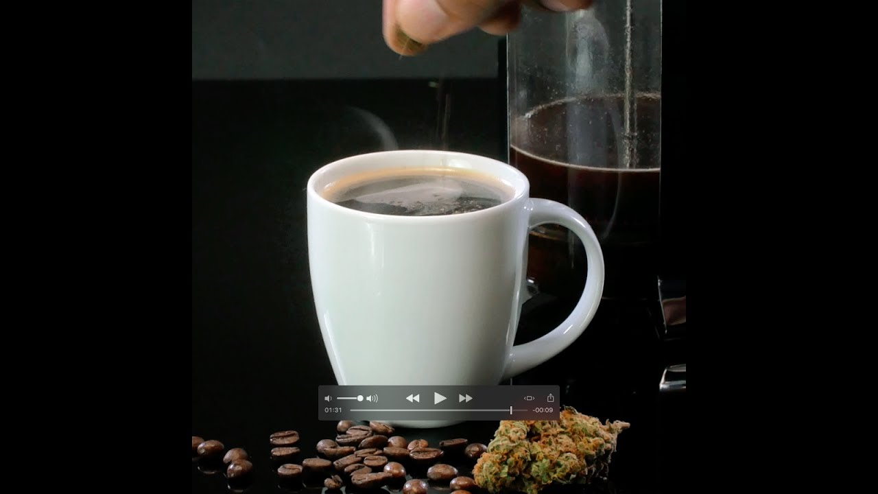 Cannabis infused coffee