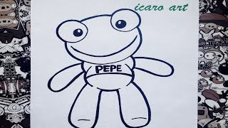 Como dibujar al sapo Pepe | how to draw pepe