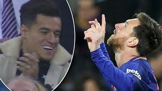 Download Video Coutinho Funny Reactions on Messi Goals ● Barcelona vs Celta Vigo (5-0) HD MP3 3GP MP4
