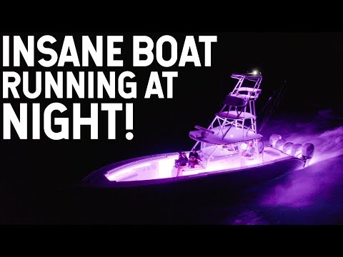 INSANE Boat Running At Night! LUMITEC LED PACKAGE!