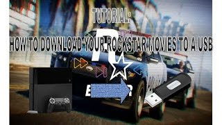 How to download your RockStar editor movies to a USB!