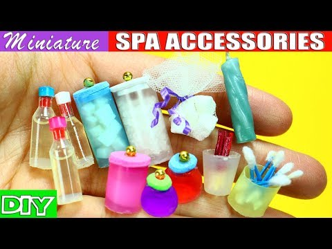 100% Real Miniature Body Care, Spa And Bath Accessories - 10 Easy DIY Doll Crafts - Simplekidscrafts
