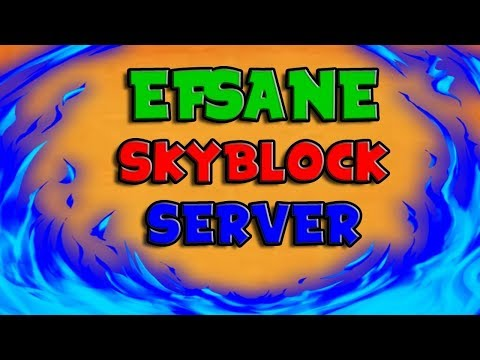 😱 MİNECRAFT SERVER TANITIMI !  - EFSANE OP SKYBLOCK SERVER ! 😱