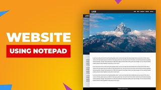 How to make a website using notepad | Beginner's Tutorial