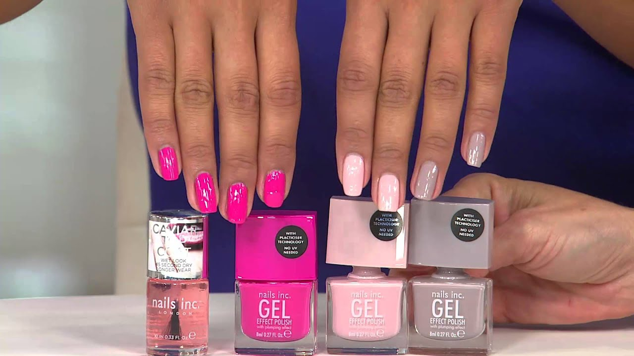 nails inc. Gel Effect 4 Piece Collection with Amy Stran - YouTube