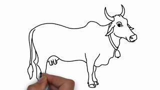 How to Draw cow for Kids Colouring with Colore Marker