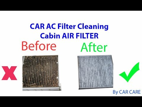 Car AC Filter Cleaning , Cabin air filter. Swift AC FIlter