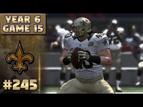 VS CORTEZ MEEKS | NO @ NYG Highlights (S6,G15) | Madden NFL 17 New Orleans Saints Franchise Ep. 245