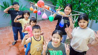 Kids Go To School   Chuns With Friends Competition Blindfolded And Catching Objects