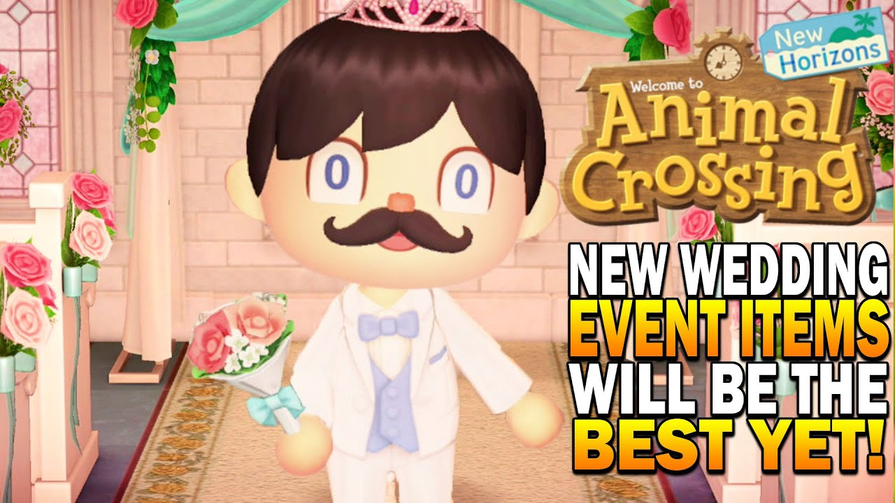 The Wedding Event Will Have The Best Rewards So Far In Animal Crossing New Horizons Youtube