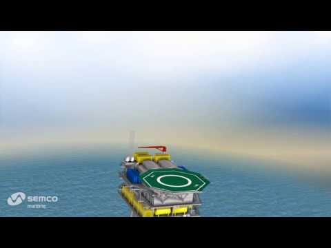 Offshore windpower transformer platform