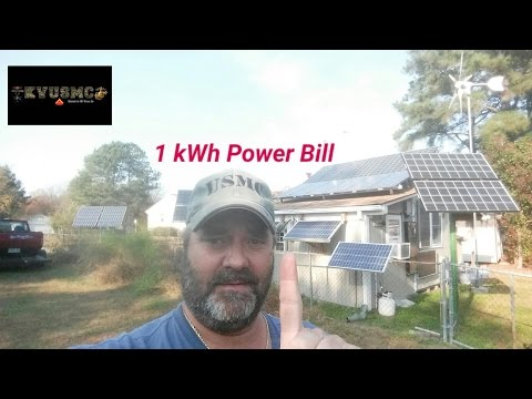 "Solar Electric PV And Wind Home Power Bill ""1"" kWh November 2016  By KVUSMC"