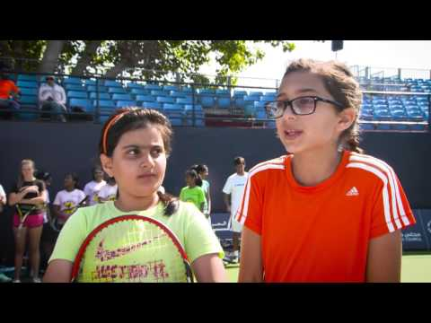 Tennis Emirates Inspires Young Tennis Players at Dubai Duty Free Tennis Championships