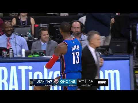 Paul George GAME-WINNER vs Jazz | February 22, 2019 | 2018-19 NBA Season