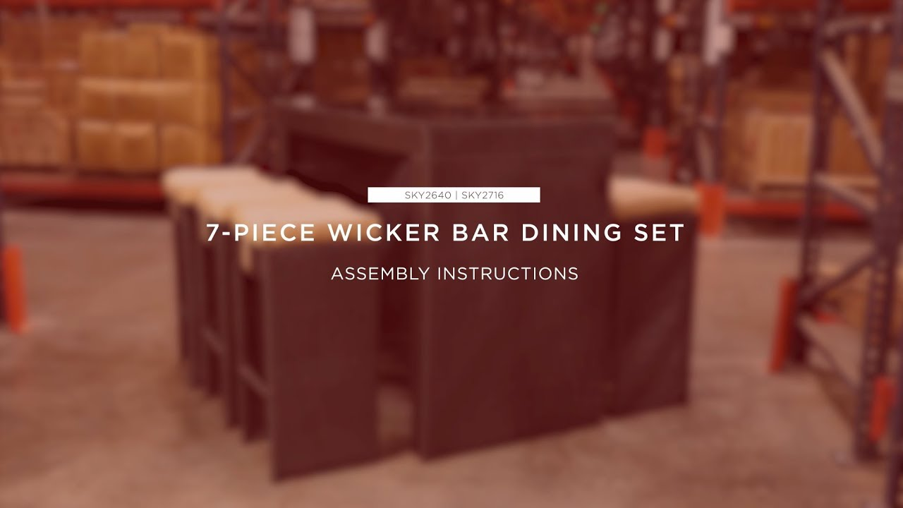 Embly 7 Piece Wicker Bar Dining Set Sky2640 Sky2716 Best Choice Products