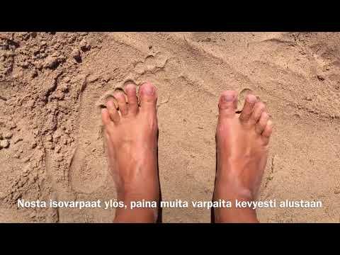 Jalkajumppaa rannalla