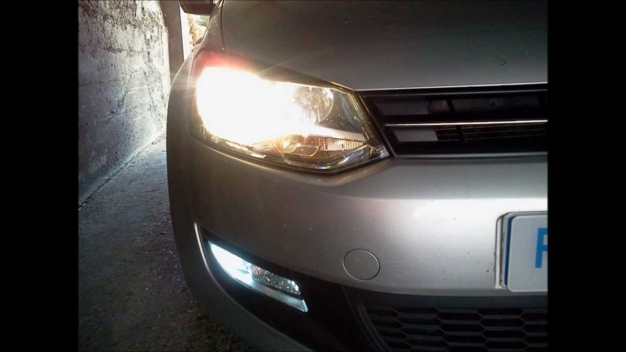 tutoriel kit xenon hid special volkswagen polo  youtube