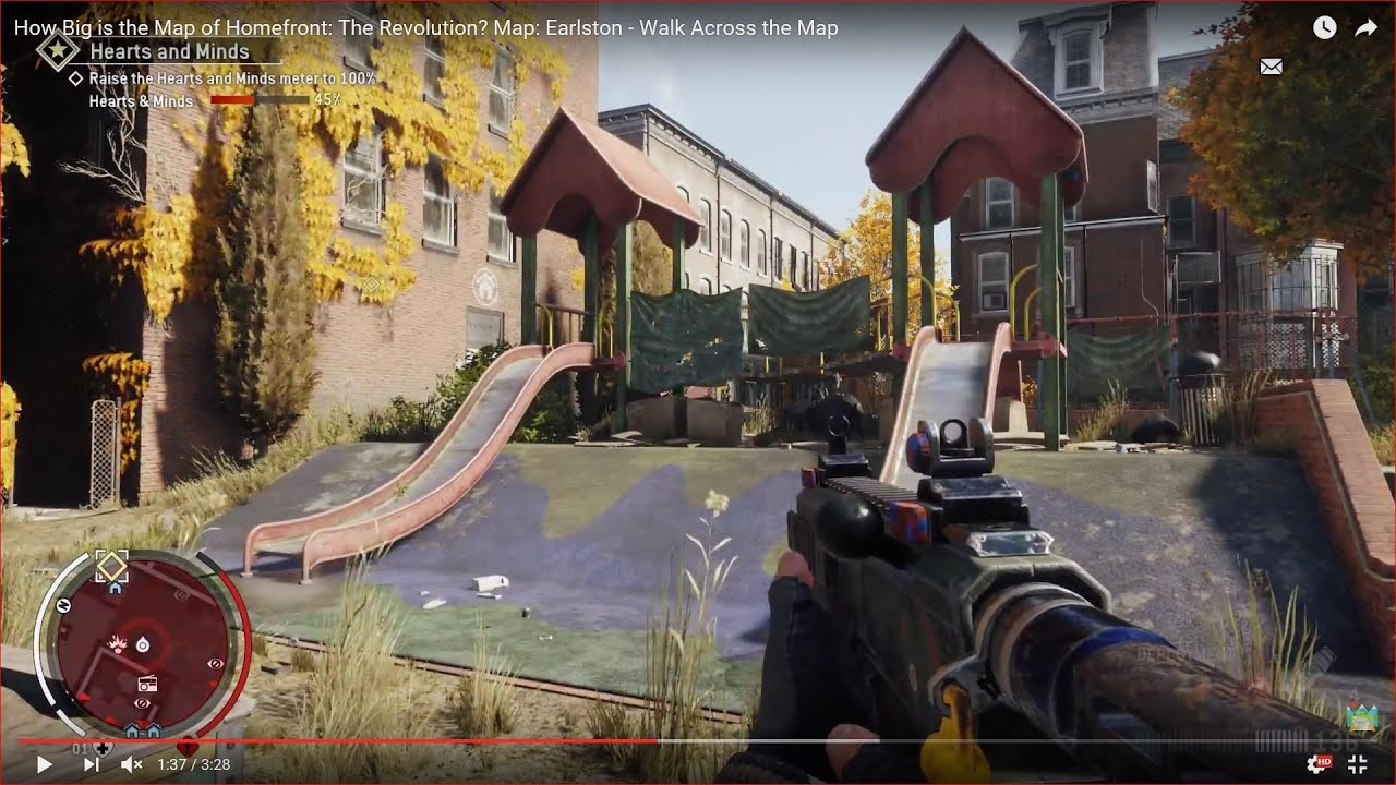 How Big is the Map of Homefront: The Revolution? Map: Earlston ...