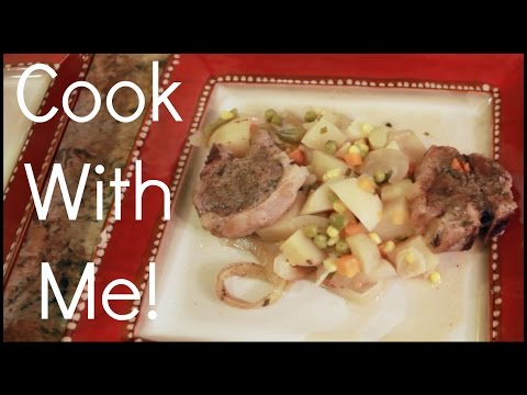 Cook With Me: Slow Cooker Lamb Chops With Potatoes & Veggies! | Mariah McLean