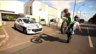 ★ Moto VS Police ★ Awesome biker DODGE the sheriff patrol- CRAZY Chase - exclusive compilation 2016