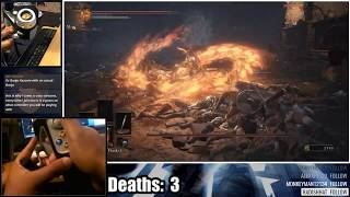 Dark Souls 3 - Fishing Rod vs Abyss Watchers (Twitch Highlight)