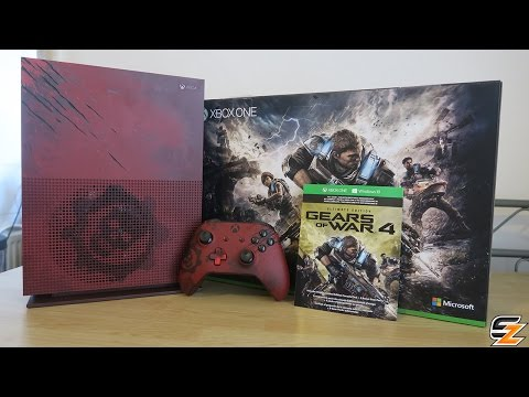 Gears of War 4 Xbox One S Limited Edition Console Bundle Unboxing!