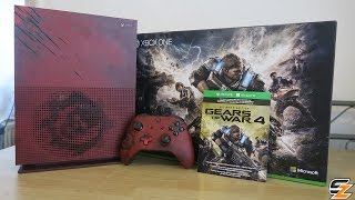 Gears of War 4 Xbox One S Limited Edition Console Bundle Unboxing! (Gears of War 4 Xbox One Console)