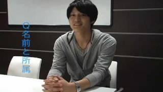 「東京俳優市場2010春」第2話から松田将希さんのインタビューです。