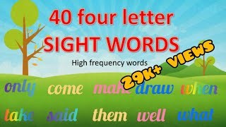 40 four letter sight words | High frequency words | Learn to read four letter words | Jay and Jezz