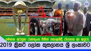 2019 ක්රිකට් ලෝක කුසලානය ශ්රී ලංකාවට Video - Sri lanka to Host the 2019 Cricket World Cup