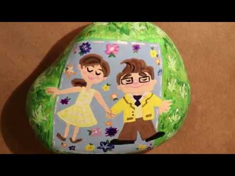 Time Lapse Painting – UP Rock | Painted Rock Ideas