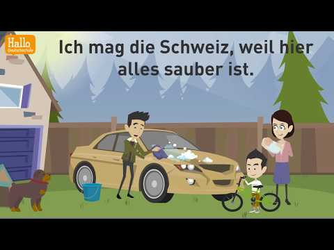 Deutsch lernen mit Dialogen / Lektion 56 / Wie ist das Leben in der Schweiz? / Nebensätze