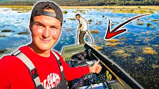 Fishing in an MYSTERIOUS SWAMP (Does It Hold big fish ?!) | Team Galant