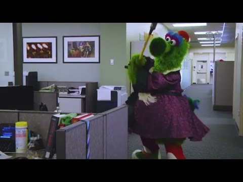 Phillie Phanatic Destroys ESPN Office | ESPN