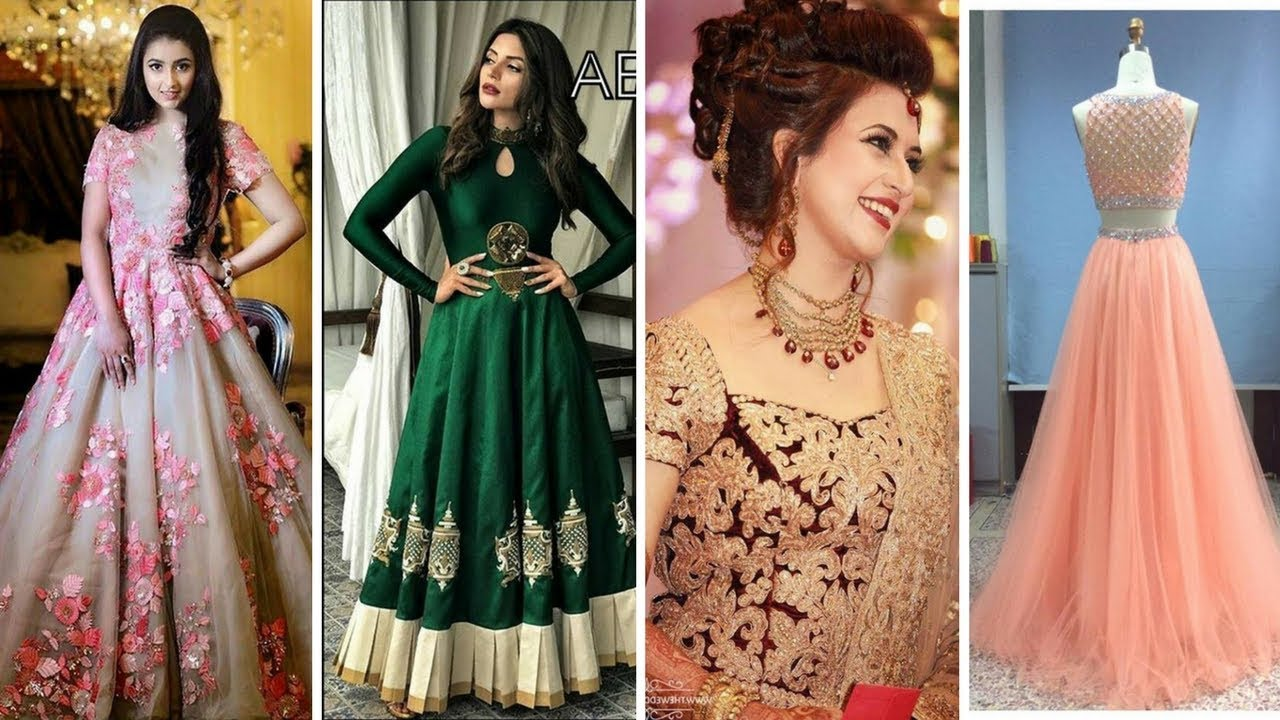 Latest Long Dress Designs// Gown Pattern 2017 Collection