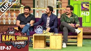 Sunny Deol Bobby Deol and Shreyas Talpade with Kapil Sharma - The Kapil Sharma Show  11th Dec 2016