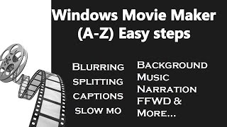 windows movie maker tutorial for beginners | All in one video 2017