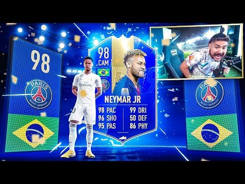 OMFG I PACKED 98 TOTS NEYMAR!!! NO WAY!! FIFA 19