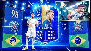 OMFG I PACKED 98 TOTS NEYMAR!!! NO WAY!! FIFA 19