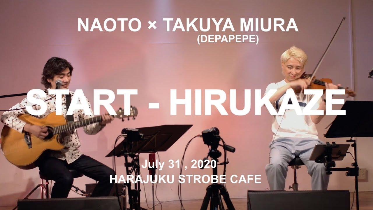 NAOTO×Takuya Miura(DEPAPEPE) STREAM LIVE for J-LODlive (1)at HARAJUKU STROBE CAFE