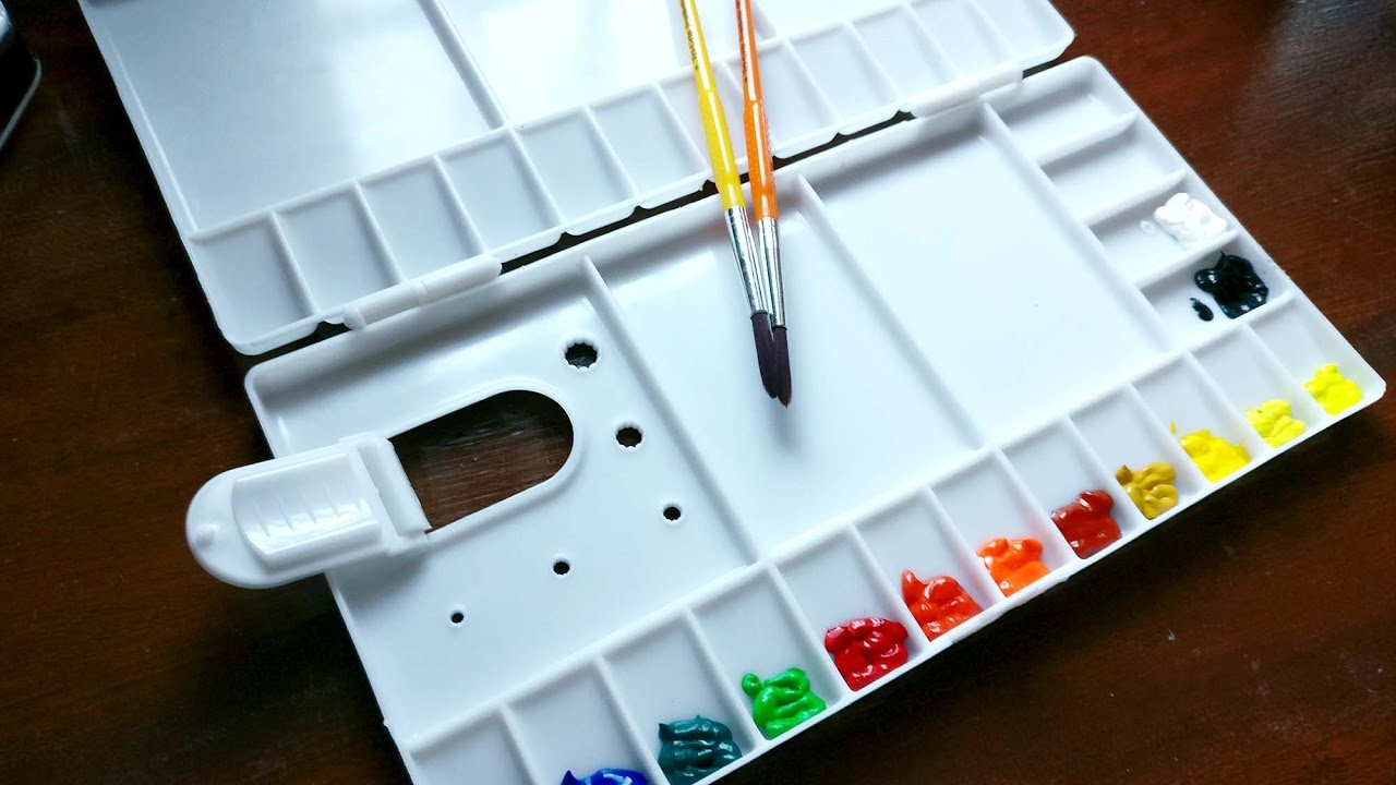 How To Set Up New Watercolour Palette