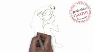 Как нарисовать бурундука в овечьей шубе карандашом поэтапно